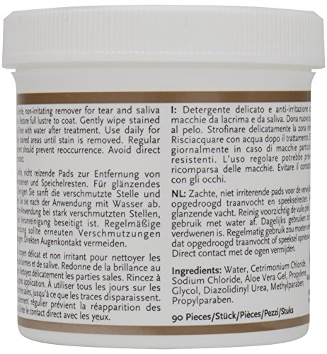 8in1 Augen-Reinigungspads (für eine wirkungsvolle und schonende Reinigung, speziell für die Augenhygiene bei Hunden entwickelt), 1 wiederverschließbare Dose (90 Stück) - 2