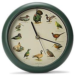 Mark Feldstein & Associates Singing Wild Game Birds of North America Hunting Wall/Desk Sound Clock, 8 Inch