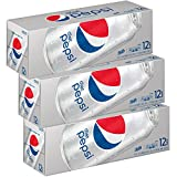 Diet Pepsi Soda, Fridge Pack Bundle, 12 fl oz, 36 Cans