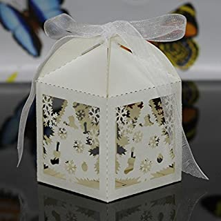 Best snowflake wedding favor boxes Reviews