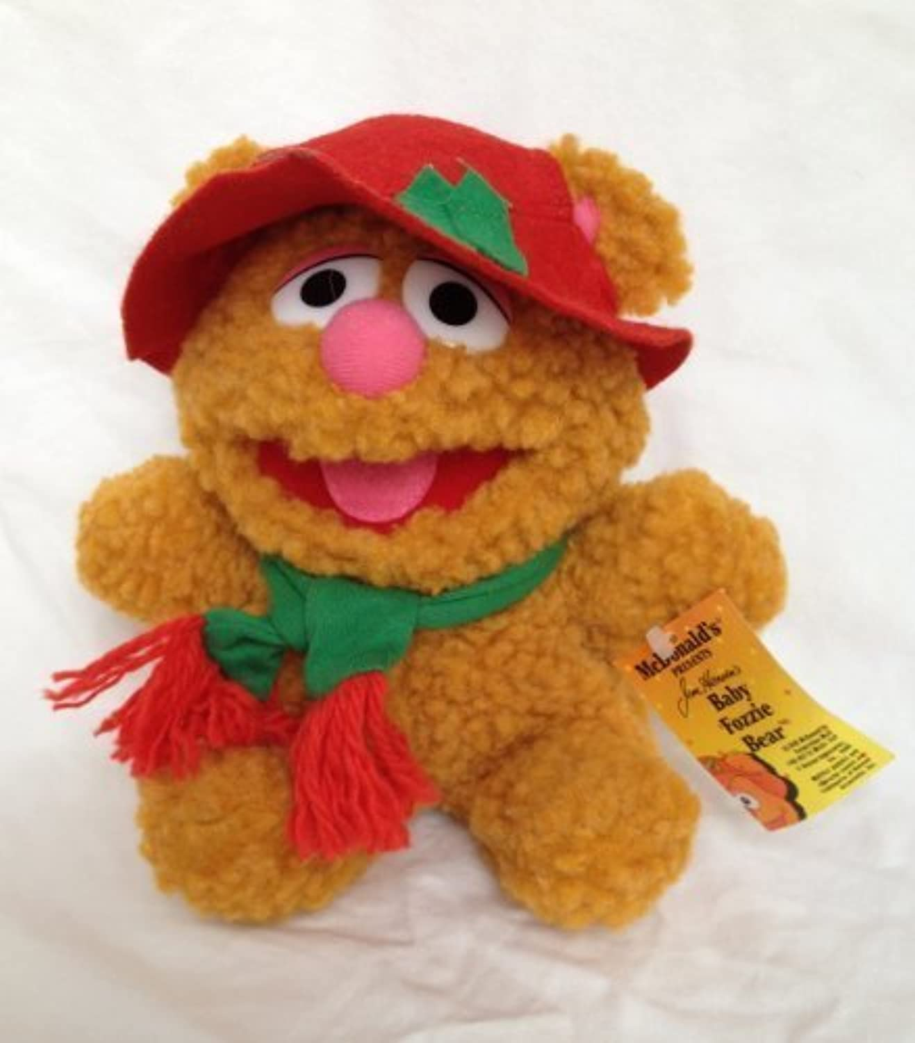McDonalds Presents Baby Fozzie Bear Vintage Plush Toy by Muppets