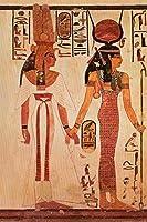 女王ネフェルタリ女神イシスエジプトのアートポスター24x36 [並行輸入品]