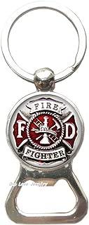 Fire Fighter Bottle Opener Keychain,Fire Dept Key Ring,Firefighter,Fireman Gift,Gift for Coworker,for him,Art Gifts,for Her,TAP338