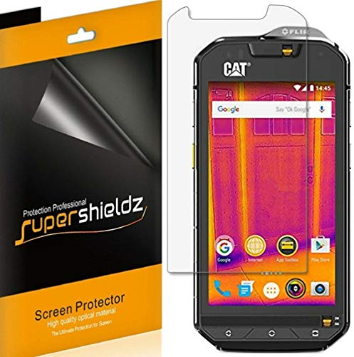 (6 Pack) Supershieldz for Cat S60 Screen Protector, High Definition Clear Shield (PET)