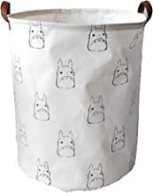 Collapsible Totoro Storage Bin Hamper Laundry Basket, Foldable Dirty Clothes Bag with Handles Home Bedroom Office Toys Boo...