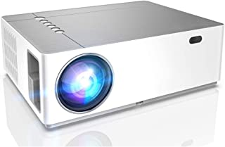 جهاز عرض AMERTEER Native Full HD 1080P ، 400ANSI يدعم أجهزة عرض فيديو عالية الدقة ، 4D ± 50 درجة دوران عمودي عمودي عمودي 5...