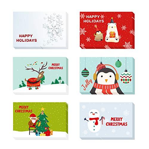 Weihnachtskarten mit Umschlägen und Aufkleber (24er Set), Weihnachten Karten, Klappkarten Grußkarten Blanko, Neuser Schöne Weihnachtspostkarten für Weihnachtsgrüße an Familie, Freunde, Kunden Kinder