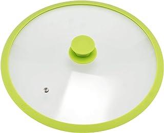 bremermann - Tapa de Cristal con Borde de Silicona para ollas y sartenes de 32 cm