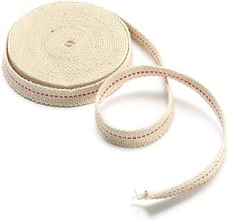 ランフィー 1/2 インチの平らな綿の芯15フィートのオイルランプおよびランタンの綿の芯 4.5 m の長さ