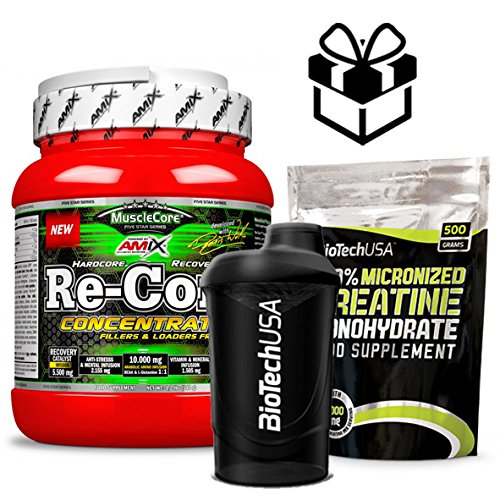 Amix MuscleCore Re-Core Concentrate 540 gr Fruit Punch + regalo creatina 500grs y mezclador