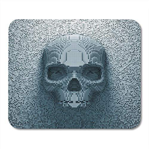 Mauspads Digital Blue Hacker Pixel Schädel Cyber Computer Mauspad für Notebooks, Desktop-Computer Mausmatten, Büromaterial