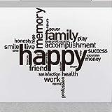 FXBSZ Anpassbare Happy Works Office Wand Zitat Aufkleber Office Inspirational Quote Vinyl Wandaufkleber Arbeitsplatz Motivation Aufkleber Schokolade 75cm x 66cm