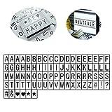 Mobestech 170 pezzi di scatole di lettere luminose decorative fai da te combinazioni di ca...
