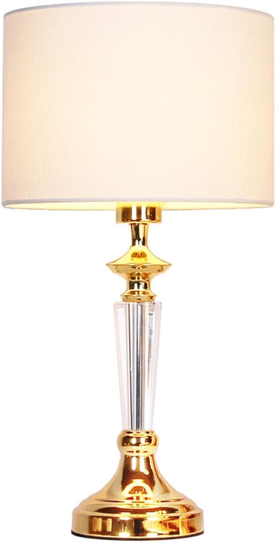 Europische Kristalllampe Schlafzimmer Nachttischlampe moderne minimalistische Mode kreative Tischlampe dekorative Gold Luxus Tischleuchte