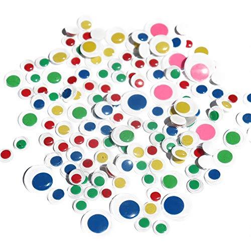 QINGRUI Home Decoration 5-40mm Größe bewegliche Augen Kunststoff Wiggle Glubschaugen Scrapbooking verwendet for Spielzeug Puppenzubehör DIY Kinder Craft Craft Supplies (Color : Antique Brass)