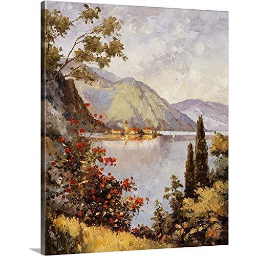 "GREATBIGCANVAS Lake Como Canvas Wall Art Print, 19""x24""x1.5"""