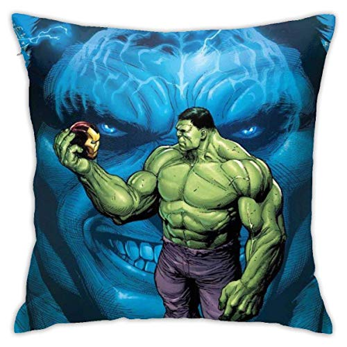 DJNGN Hulk Cool Throw Pillow Covers 18'X 18'Inch Square Shape Decorative Cushion Cover for Couch Sofa Pillow Set