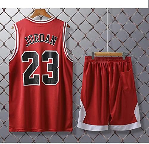 Movement Chicago Bulls # 23 Kits De Camiseta De Michael Jordan, Uniforme De Baloncesto para Hombre Y Mujer, Chaleco De Gimnasio/Camiseta Deportiva Y Pantalones(Size:3XL,Color:G3)
