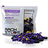 Rackstuds P100 Rack Mount Solution Series II – No More Cage Nuts! The Easiest and Safest Server Rack Solution in 19' Racks with Square Punched Vertical Rails | 100-pack, Purple, 3.2mm/0.126' Version