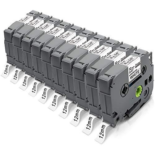 10X Pristar kompatible für Brother TZe-231 TZe231 TZ-231 Tze 12mm 0.47 Laminated Schriftbänder für Brother PT-H107B 1000 D400 E500VP H105 D600VP H100LB PTH100R D210 H110