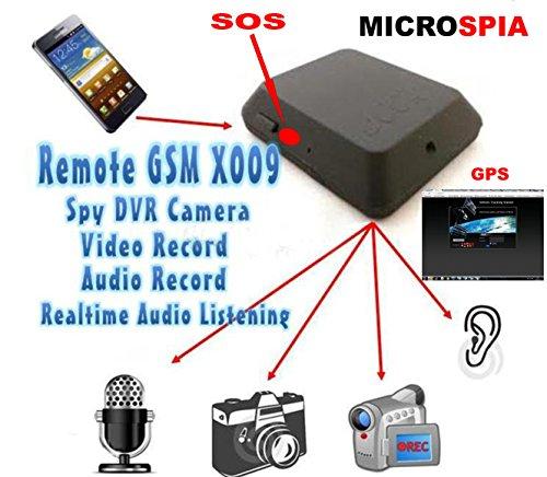 Micrófono ambiental GSM con grabación de vídeo y audio con activación por SMS o sonidos de CS electroingros