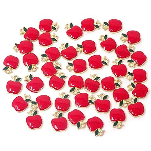 Honbay 40PCS Enamel Fruit Charms Pendants for Jewelry Making or DIY Crafts