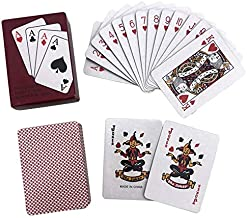 SODIAL Poker Portable Mini Poker Fun Poker Board Game Red