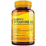 Vitamine D3 10000 IU - 365 Gélules – Articulations, Os Et Dents En Bonne...