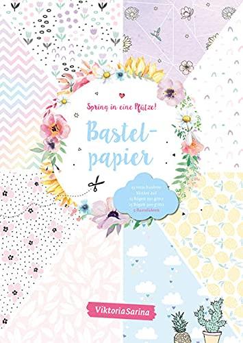 Spring in eine Pfütze! Bastelpapier: Motivpapier in unterschiedlichen Papierstärken + 2 Seiten DIY-Anleitungen von Viktoria Sarina