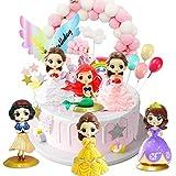 Toppers para Tartas,6pcs Princesa Cake Topper Caricatura Cumpleaños Topper de Tarta Decoración Sumin...