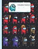 Composition Notebook: Among Us Wide Ruled Composition Notebook (8.5x11) Colorful Characters Pack Pattern (Among Us Gifts 38)
