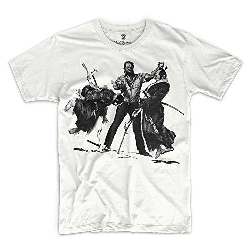 Bud Spencer - Plattfuß räumt auf - T-Shirt (XL), Weiß, XL