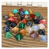 YSDSPTG Piedra de Cristal Nuevo 7pcs Set Pyramid Gemstone Natural Stone Crostal Curing Point Chakra...