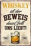 "Blechschilder Lustiger Alkohol Whiskey Spruch ""Whiskey"