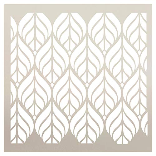 Fun with Shapes Abstract Leaf Nature Stencil StudioR12 | Wood Sign | Reusable Mylar Template | Wall Decor | Multi Layering Art Project | Journal Art Deco | DIY Home - Choose (6' x 6')