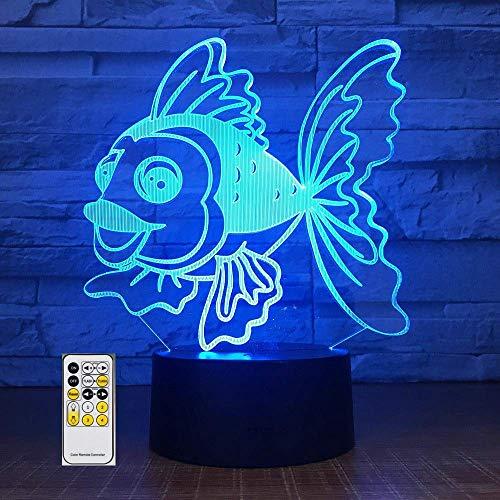Stereo Light 7 kleurveranderende LED Kids nachtkastje verrekijker 3D Visual Animal Fish USB bureaulamp Home Decor nachtlampje