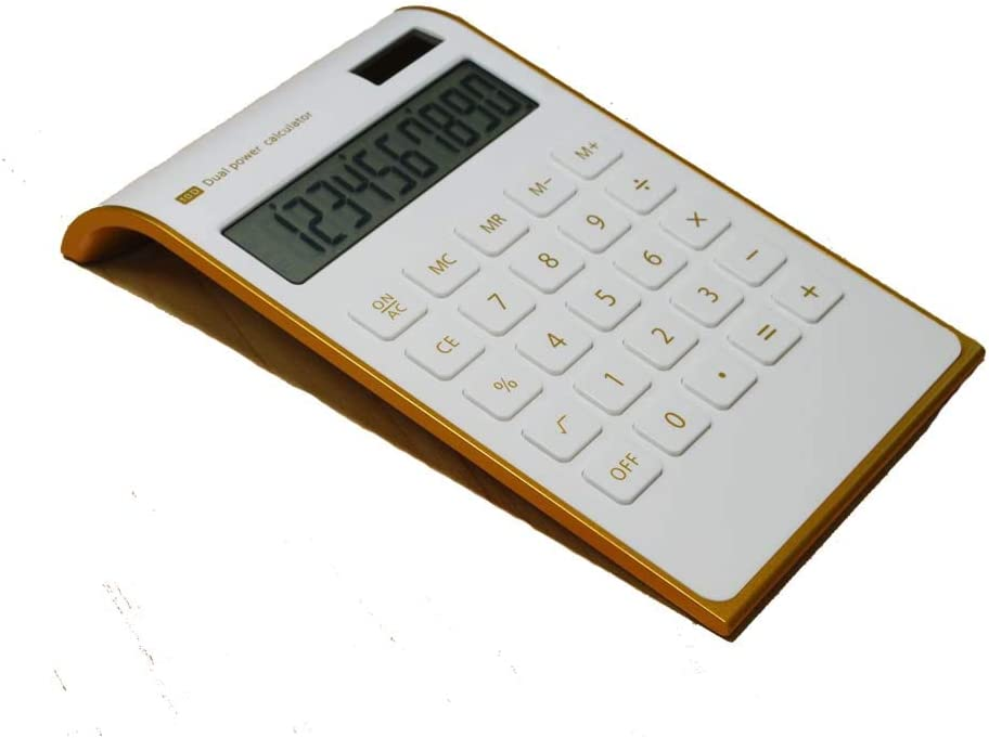 Blue Calculator,10 Digits Dual Powered Desktop Calculator Large LCD Display Slim Desk Calculators