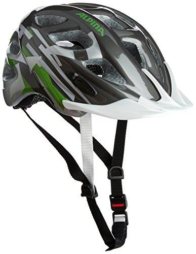 Alpina Unisex - Kinder Fahrradhelm Rocky, titanium-green-white, 47-52, A9629.0.37