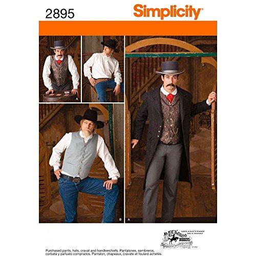Simplicity Schnittmuster 2895BB Herren Kostüme