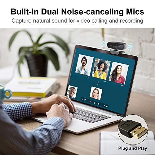 Spedal Webcam 60fps 1080P HD PC Webkamera Streaming OBS Webcam Autofokus USB Webcam mit Mikrofonen Desktop- oder Laptop-Webkamera für Skype Facebook Kompatibel für Mac Windows