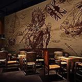 YIERLIFE Murales Decoración 3D pegatinas de pared - Calavera de halloween gris - Fotomural para...