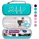 Bovke Stethoscope Sturdy Case for 3M Classic III, Lightweight II S.E, Cardiology IV, MDF Acoustica Deluxe Stethoscopes - Extra Room fits Nurse Accessories Penlight EMT Medical Scissors, Emerald