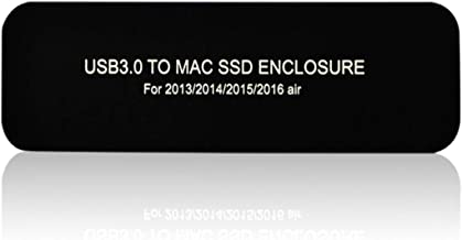 WBTUO USB3.0 to MAC SSD Enclosure Solid State Disk Reader Adapter as External Hard Drive for 2013/2014/ 2015/2016 MacBook Air (Black)
