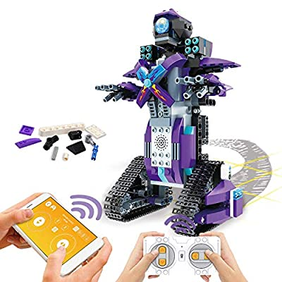 POKONBOY Building Blocks Robot Kits for Kids to Build, STEM Toys Engineering DIY Remote Control Robot Kits STEM Robotics Building Kits for 8-14 Years Old Boys and Girls?Purple?