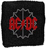 AC/DC–Muñequeras Black Ice Logo