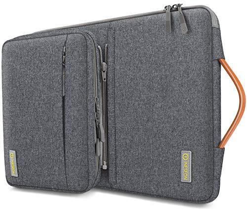 iNeseon 13-13,3 Zoll Laptop Hülle Tasche für MacBook Air/Pro 13, 13,3 Acer ASUS Dell HP Lenovo Huawei Laptop Ultrabook Notebooktasche Tragetasche mit Abnehmbarer Zubehörtasche, Dunkelgrau