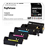 PayForLess - Tóner compatible con Xerox Phaser 6020 6022 WorkCentre 6025 6027 106R02759 106R02756 106R02757 106R02758 (4 unidades, B/C/M/Y)