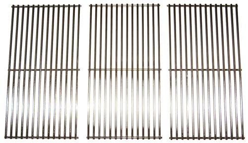 Music City Metals 591S3 Stainless Steel Wire Cooking Grid Replacement for Select Gas Grill Models by Brinkmann, Charmglow and Others, Set of 3