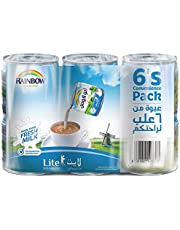 Rainbow Lite Vitamin D Convenience Pack Evaporated Liquid Milk - 6 x 170 gm