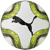 PUMA Final 5 Hardground Balón de Fútbol, Unisex, White/Lemon Tonic/Black